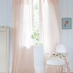 Voilevorhang rosa aus Baumwolle