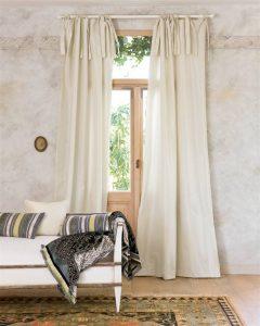 Vorhang Faux Silk 2.0 Perlweiß